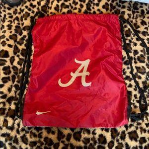 Crimson/ grey Nike drawstring Bag